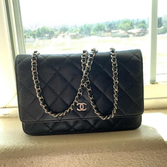 CHANEL Handbags - **SOLD***Chanel black caviar WOC w/ silver HW